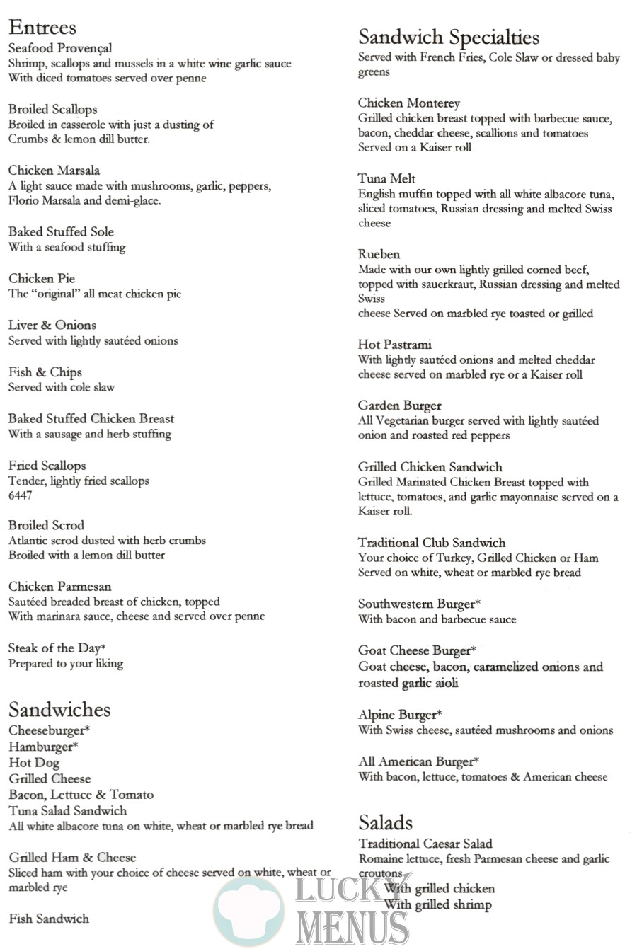 Marguerite's Take Out Menu - Entrees, Sandwiches, Sandwich Specialties