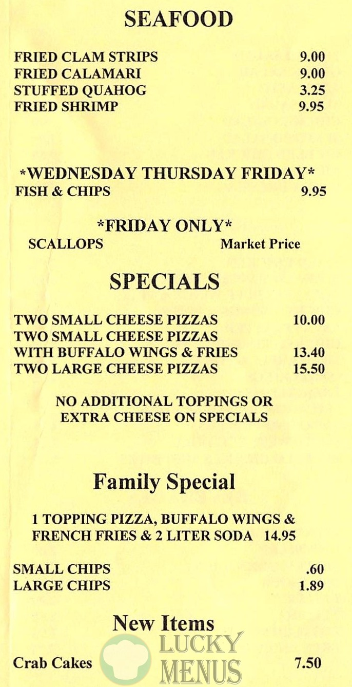 Savas Pizza Somerset - Seafood and Specials
