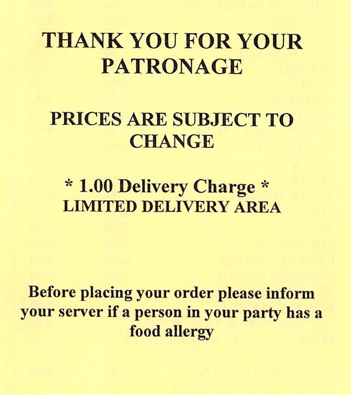 Savas Pizza Somerset - Delivery, delivery charge, and notices